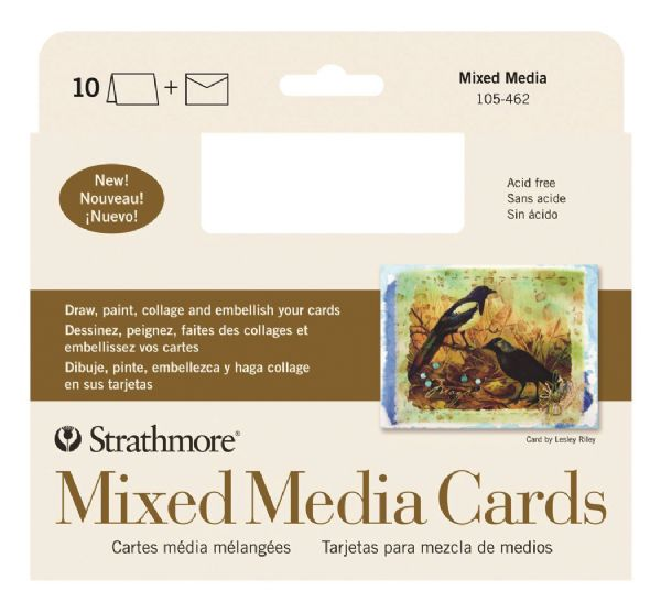 Mixed Media Full Size Cards 10-Pack