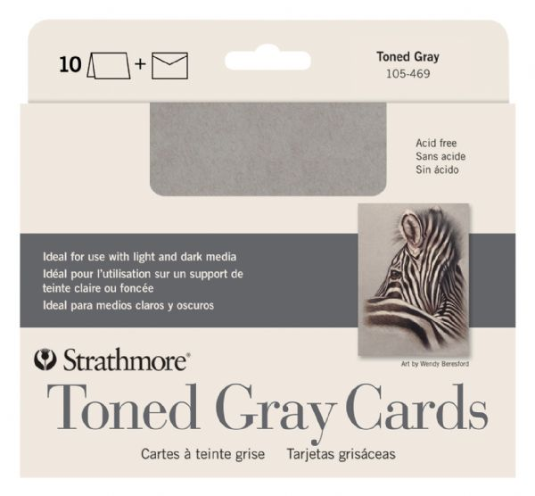 Toned Grey Sketch Cards