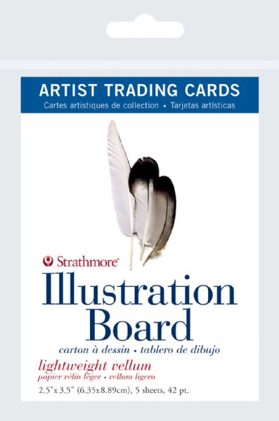 "2.5"" x 3.5"" Light Weight Vellum Illustration Board Artist Trading Cards"