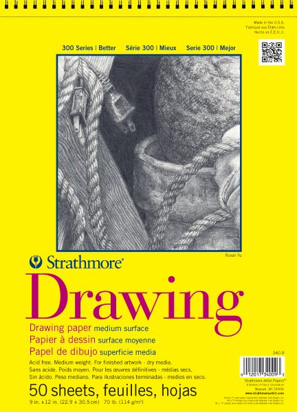 "14"" x 17"" Wire Bound Drawing Pad, 50 Sheets"