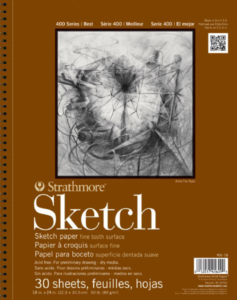 "18"" x 24"" Wire Bound Sketch Pad"