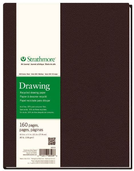"8 1 2"" x 11"" Sewn Bound Recycled Drawing Art Journal"