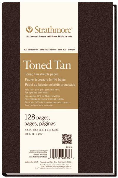 "5 1 2"" x 8 1 2"" Sewn Bound Toned Tan Sketch Art Journal"
