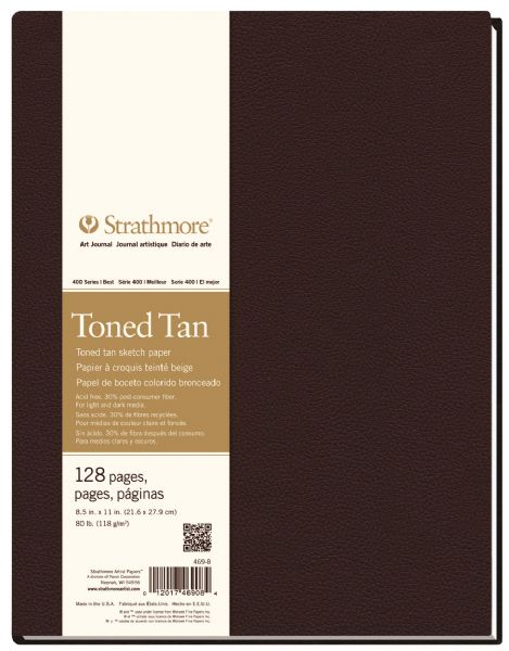 "8 1 2"" x 11"" Sewn Bound Toned Tan Sketch Art Journal"