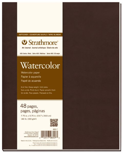 "Soft Cover Watercolor Journal 7.75"" x 9.75"""