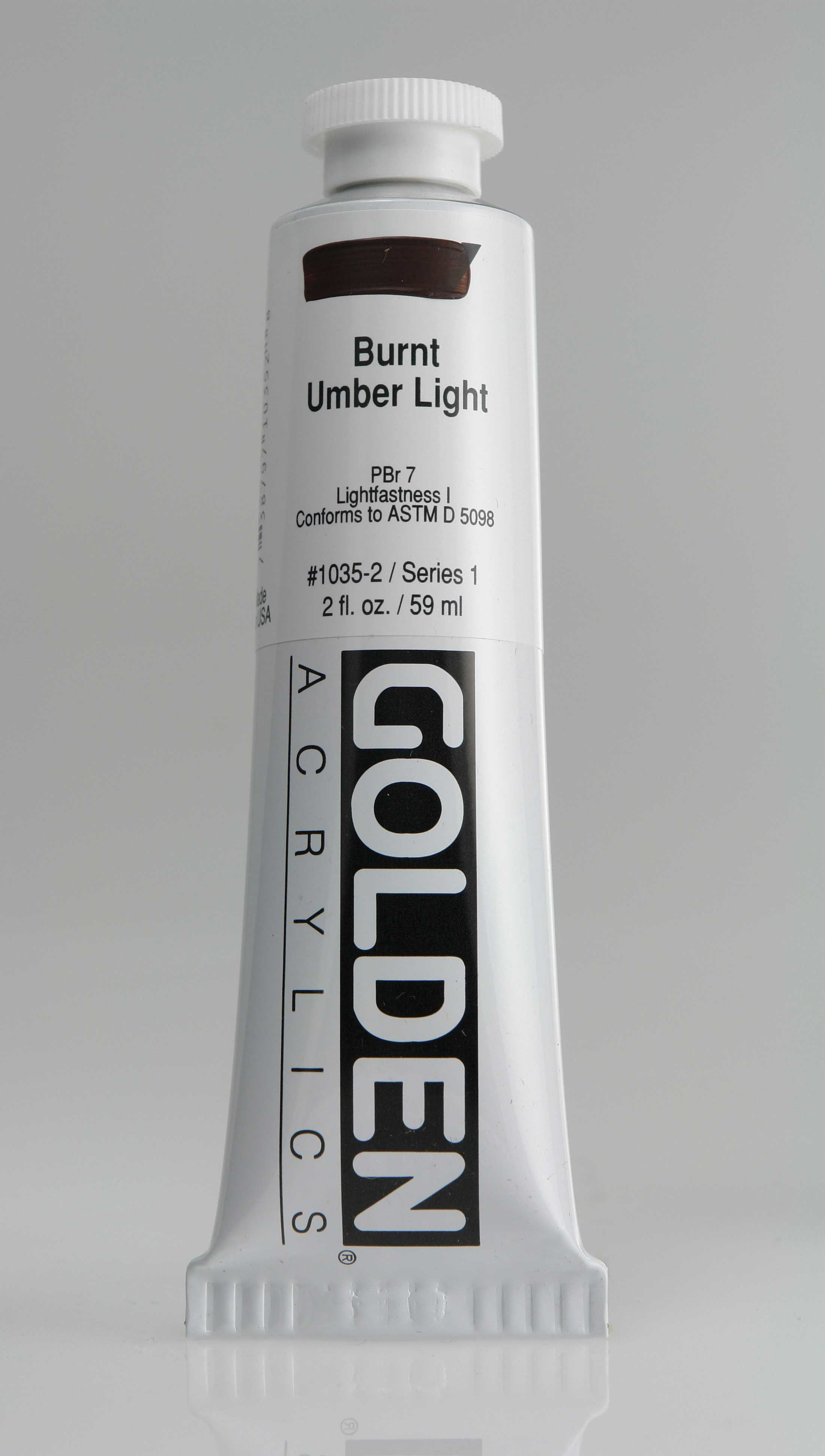 Burnt Umber Light 2 oz Golden Acrylic