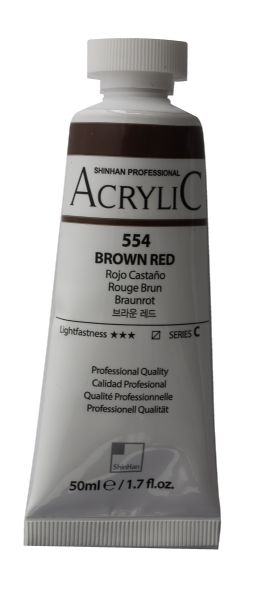 Shinhan 50ml Professional  Acrylic Brown Red