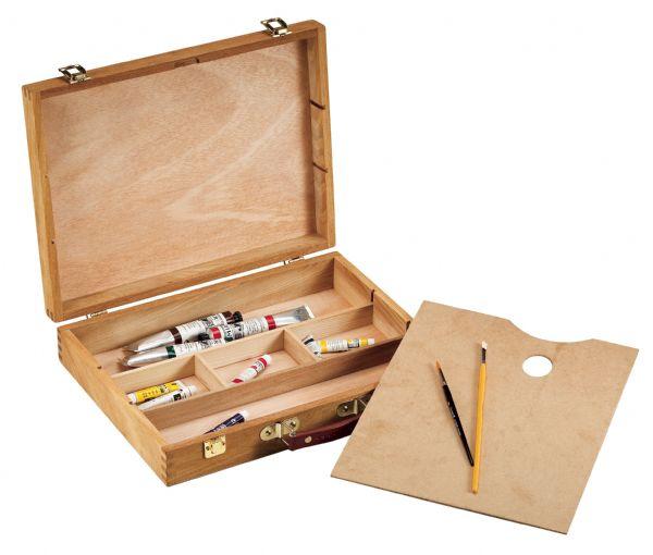 Wood Sketch Box Lg Alvin Portfolios Art Supply Com