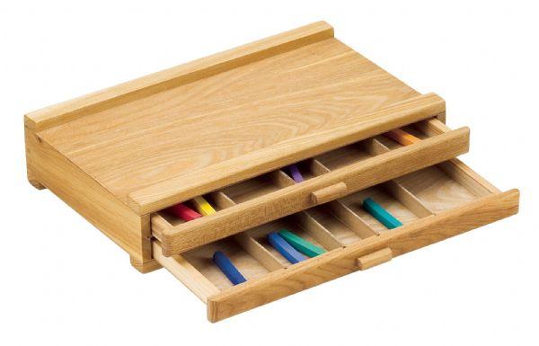 Wood Pastel Box 2 Drawer Alvin Portfolios