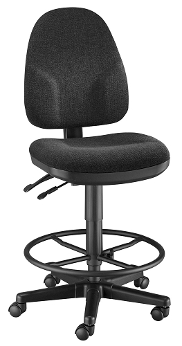 Monarch Black Drafting Chair