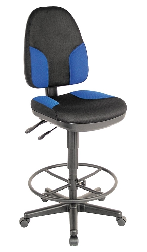 Monarch Blue And Black Drafting Chair