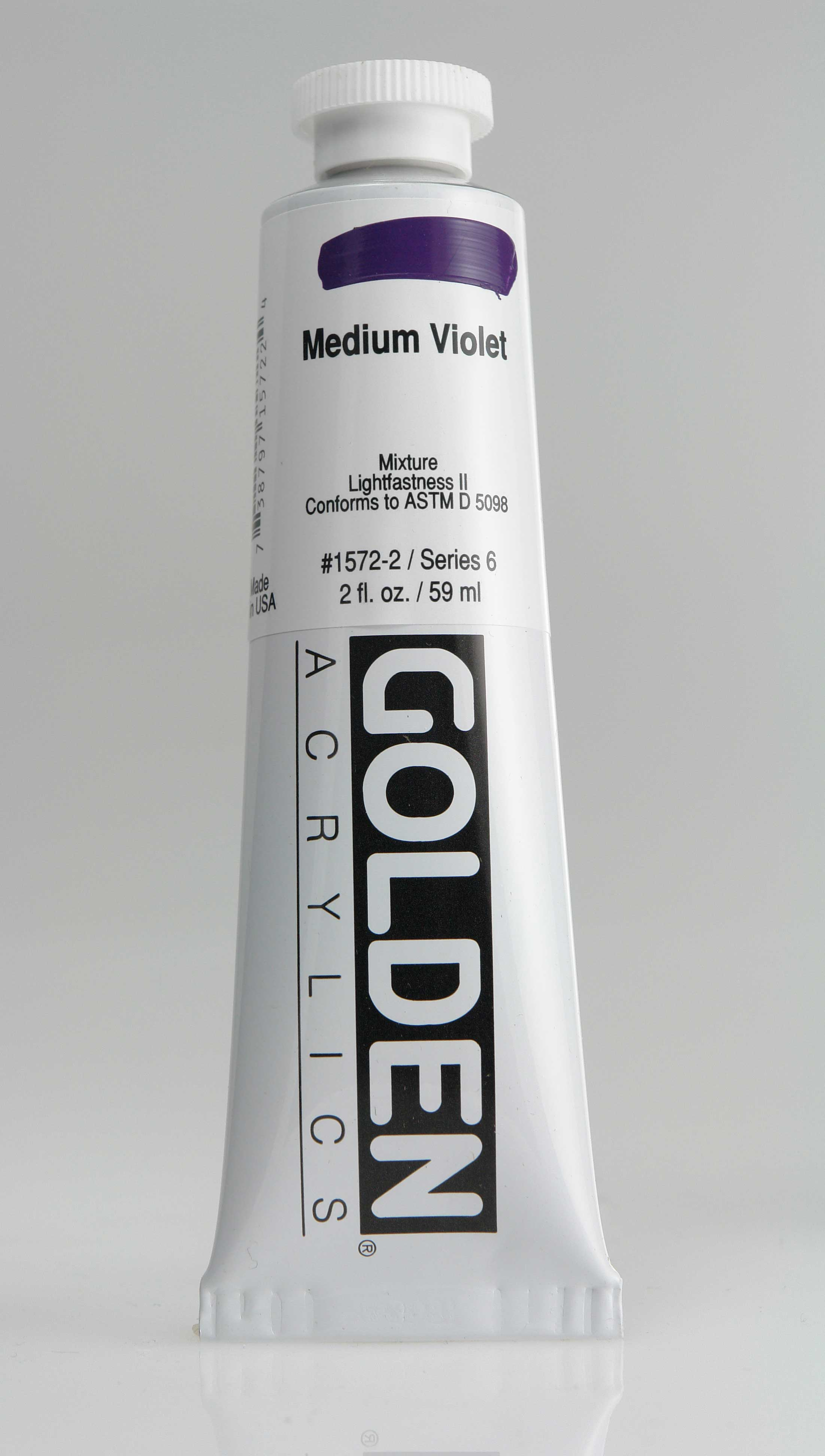 Medium Violet 2 oz Golden Acrylic