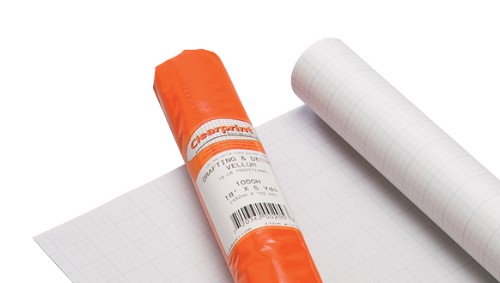 16 lb. Clearprint Grid Vellum Roll 30 x 20 Yds 10 x 10
