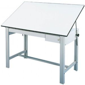 Alvin Drafting Table Designmaster Gray 37.5X72 Top And Drawers