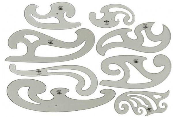 French Curve Set 8 Set Alvin Drafting Art Supply Com