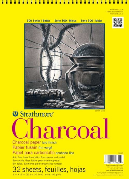 Stratmore 300 Series Charcoal Pad 18 X 24