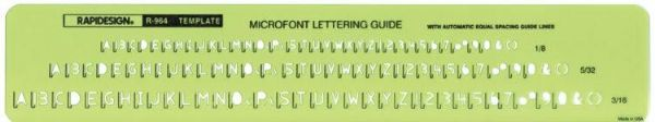 Template Microfont Guide