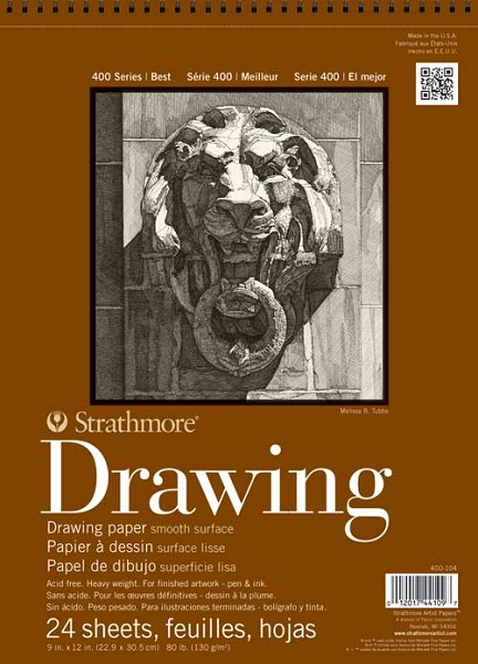 Strathmore 400 Drawing Pad 18X24 Smooth Surface