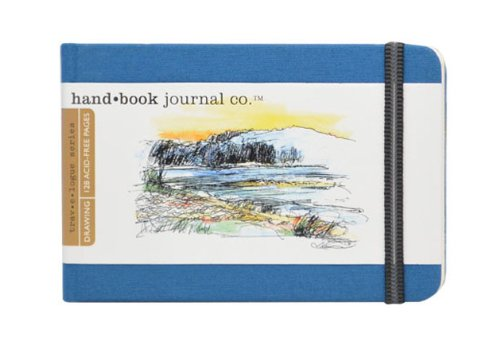 Handbook Journal Co Ultramarine Blue 5.5.x8.25 Large Landscape Drawing Book