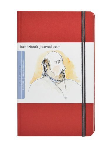 Handbook Journal Co Vermillion Red 8 25x5 5 Large Portrait