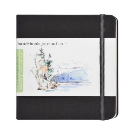 Handbook Journal Co Ivory Black 5.5x5.5 Square Drawing Book