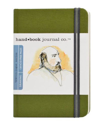 Handbook Journal Co Cadmium Green 5.5.x3.5 Pocket Portrait Drawing Book