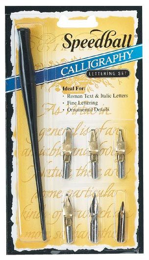 how to use a calligraphy pen set