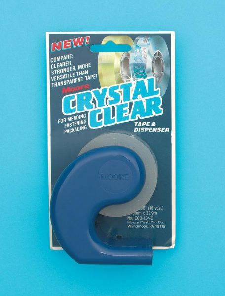 "Crystal Clear Tape 3 4"" with dispenser"