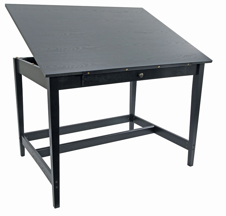 Alvin Vanguard Drawing Room Table 36 x 48 Black Ash