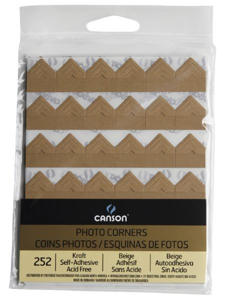 Canson Archival Self-Adhesive Photo Corners Kraft