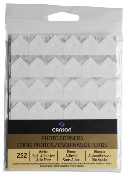 Canson Archival Self-Adhesive Photo Corners White
