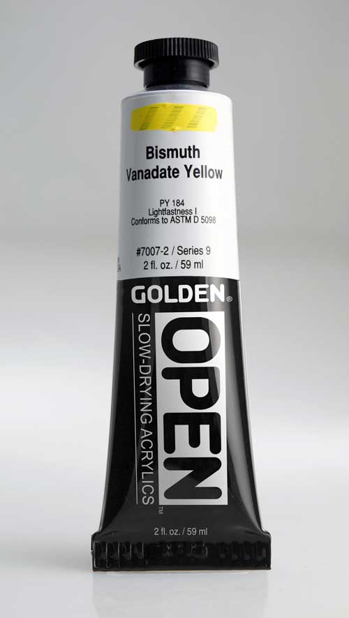 Golden Open Acrylics  Bismuth Vanadate Yellow 2 oz
