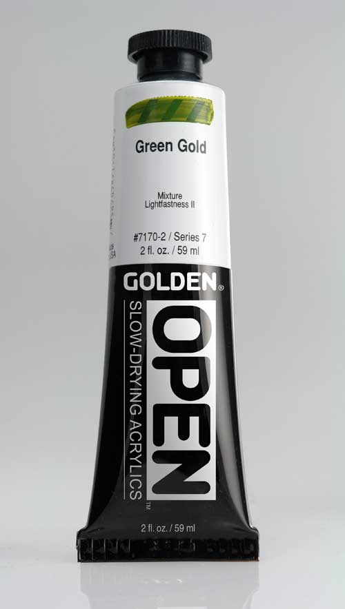 Golden Open Acrylics Green Gold 2 oz
