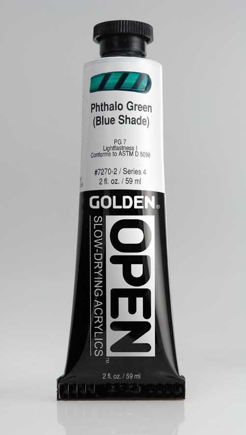 Golden Open Acrylics Phthalo Green B.S. 2 oz
