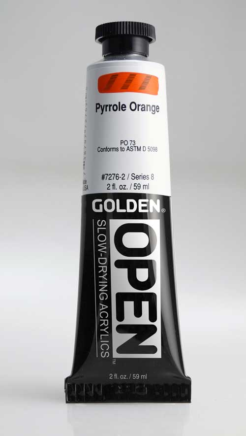 Golden Open Acrylics Pyrrole Orange 2 oz