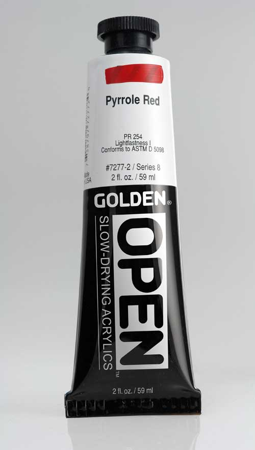 Golden Open Acrylics Pyrrole Red 2 oz