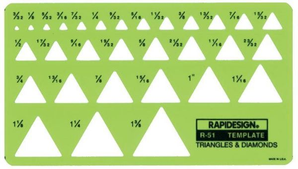 Template Triangles-Diamonds