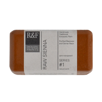 40ml R&F Encaustic Raw Sienna