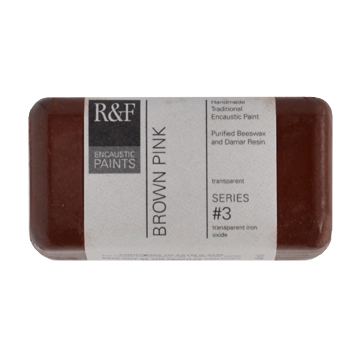 40ml R&F Encaustic Brown Pink