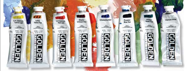 Golden Acrylic Paint Sets For School