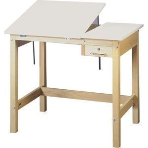 Smi 4 Post Drafting Table With Split Top 30X42X30H