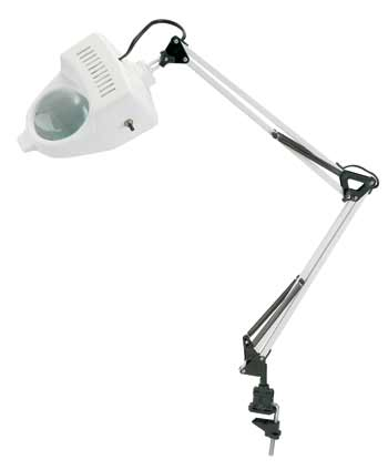 Magnifier Swing Arm Lamp White