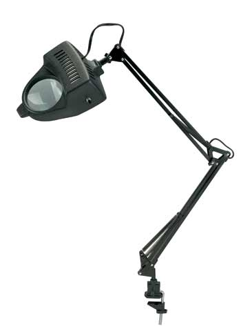 Magnifier Swing Arm Lamp Black
