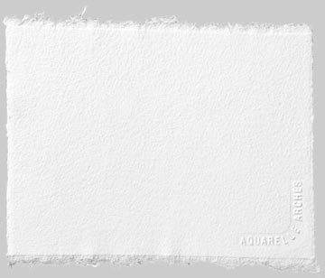 "22"" x 30"" 90 lb. -185 g Rough Watercolor Sheets  Natural White 25-Pack"