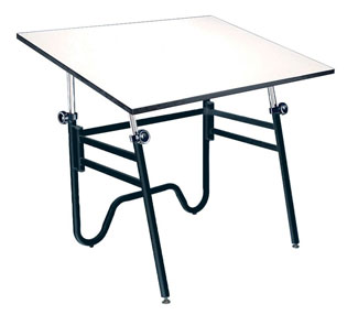 Alvin Drafting Table Opal Table Black Base 36X48 Top