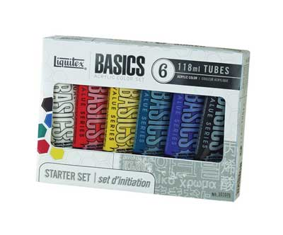 Liquitex Basics Acrylic Color 6 Tube Set