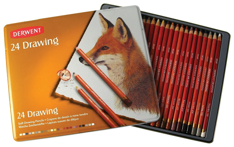 Drawing Pencil 24-Color Tin Set