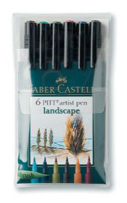 Artist Brush Pen 6 Landscape Colors