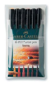 Artist Brush Pen 6 Terra Color