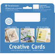 Strathmore Greeting Card White Navy Deckle 20Pk